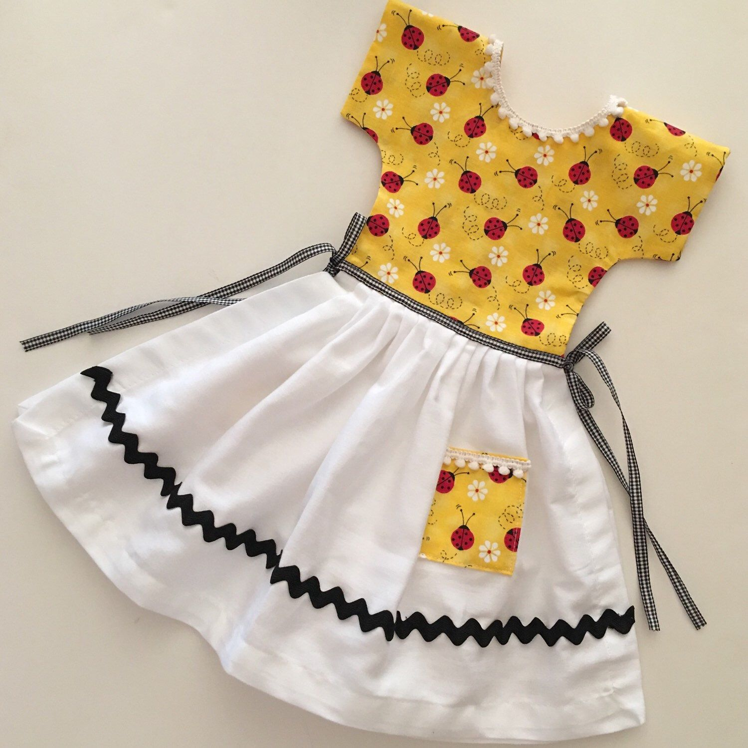 Come See My Latest Oven Door Dress Ladybugs Towel Dress Art Clothes Kitchen Hand Towels
