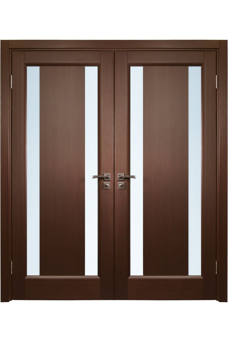 Stella modern style double interior door front door for Entrance double door designs for houses