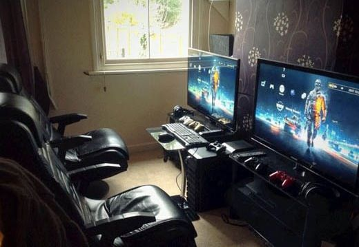 salon multi console gaming setup pinterest consoles salons and gaming setup. Black Bedroom Furniture Sets. Home Design Ideas