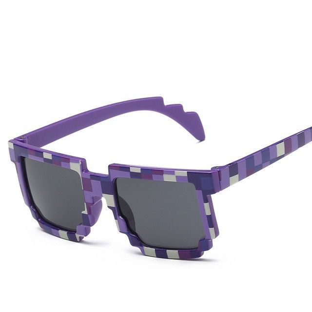 30cef20dfbb85 Fashion Sunglasses Kids cos play action Game Toys Minecrafter Square Glasses  with EVA case gifts for Men Women