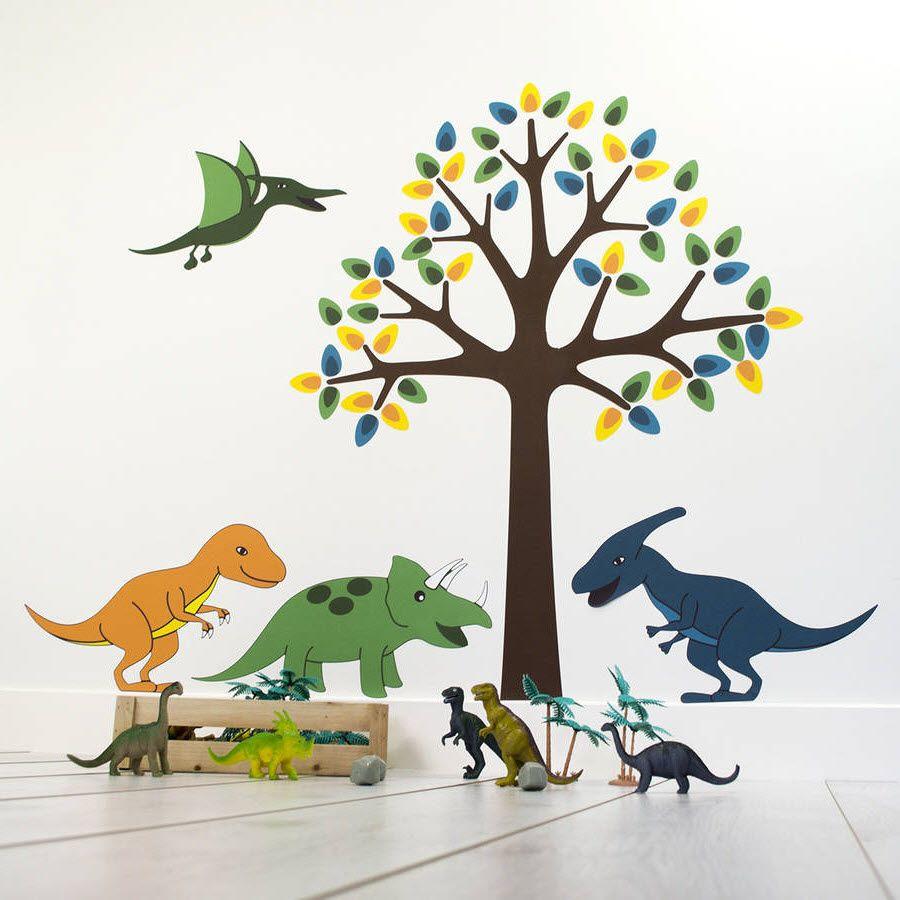 Relooking dinosaure pour une chambre de petit garçon  Dinosaure