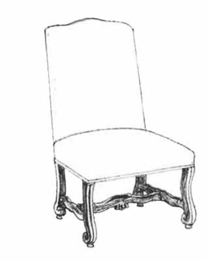 HF 209   Kurl Foot Dining Chair   Hallman Furniture