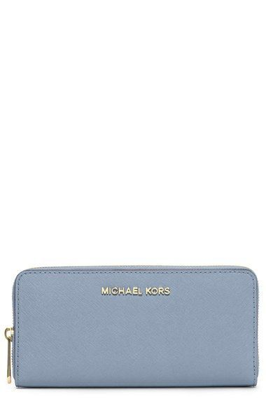 e0c364303 MICHAEL+Michael+Kors+'Jet+Set '+Saffiano+Zip+Around+Wallet+available+at+#Nordstrom