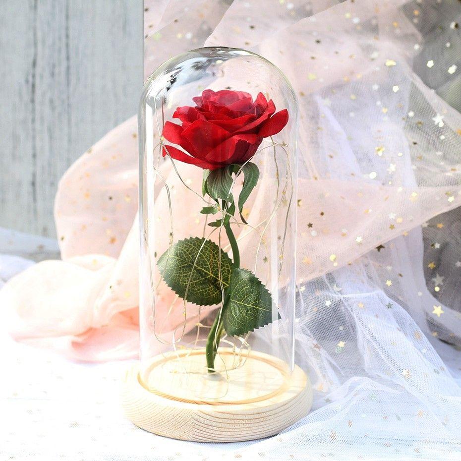 Rose In Flask Led Flower Light - 40% Off for Valentine's Day Gift   Rose in  a glass, Flower lights, Led flower