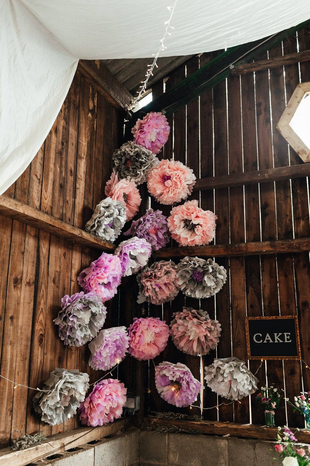 Budget Friendly DIY Barn Wedding with Colourful & Floral Touches in 2020 |  Whimsical wonderland weddings, Paper flower decor, Homemade bouquet