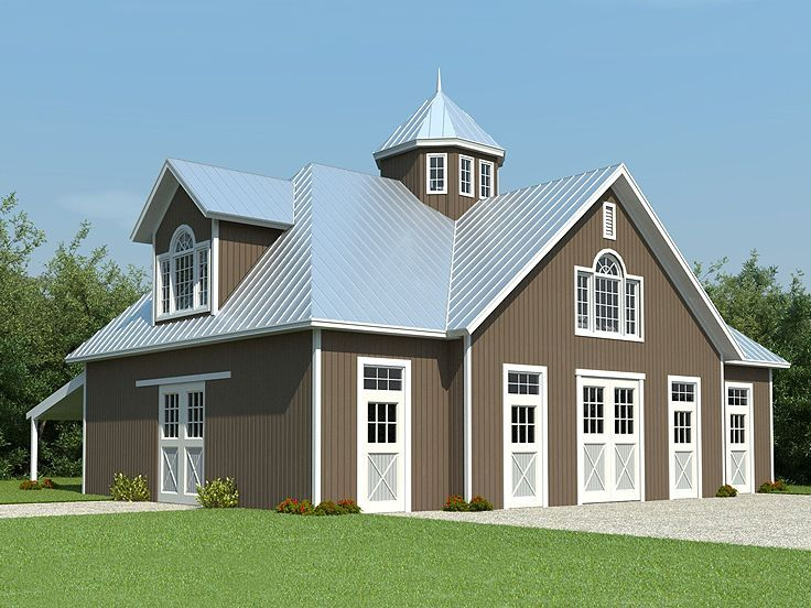 Barn apartment plans on pinterest garage plans garage for Barns with apartments floor plans