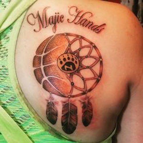 Basketball tattoos basketball tattoos tattoo and tatting for Association of professional tattoo artists