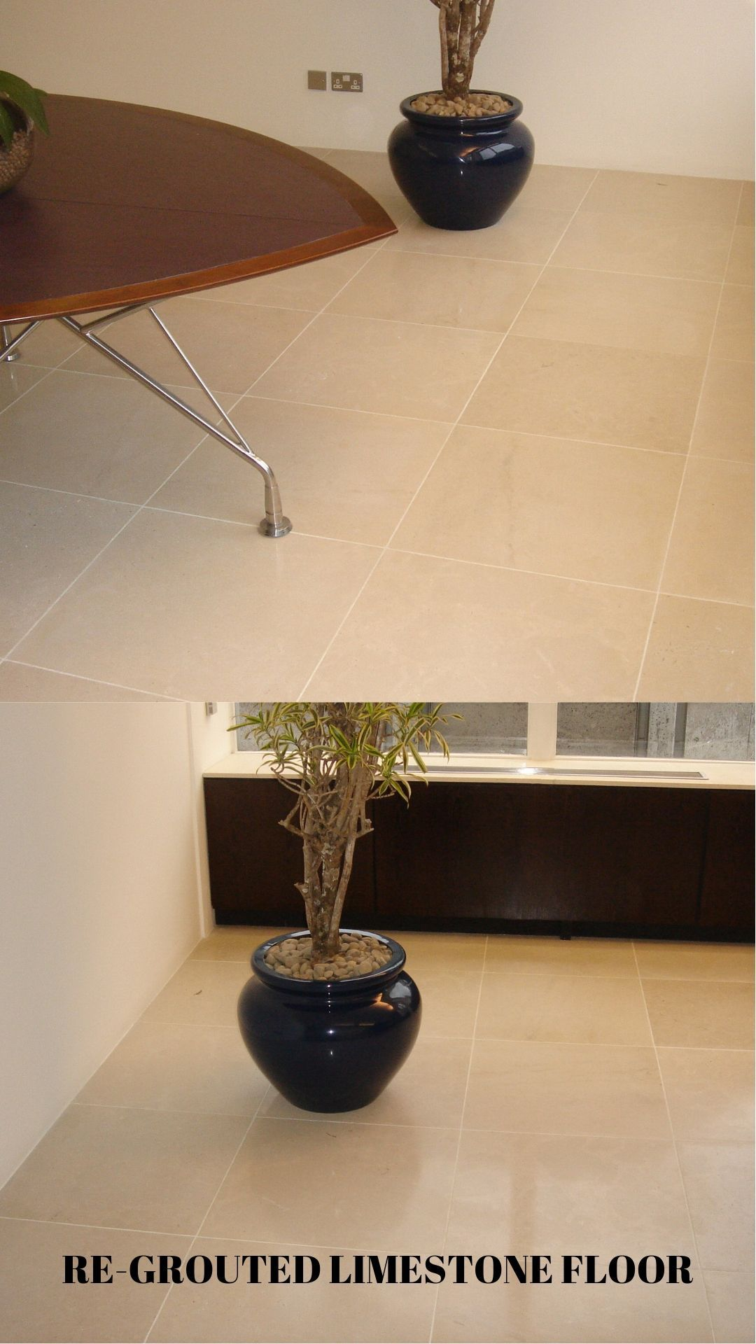 The best way to refresh an old limestone floor is to