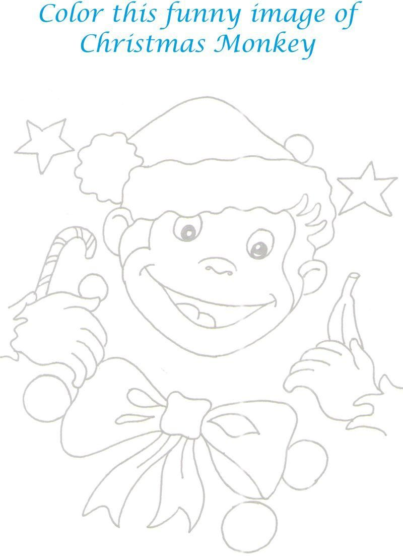 Sock Monkey Coloring Pages Printable Monkey Printable Page Coloring For Kids Christmas Day Coloring Pages Monkey Coloring Pages Coloring Pages Coloring For Kids