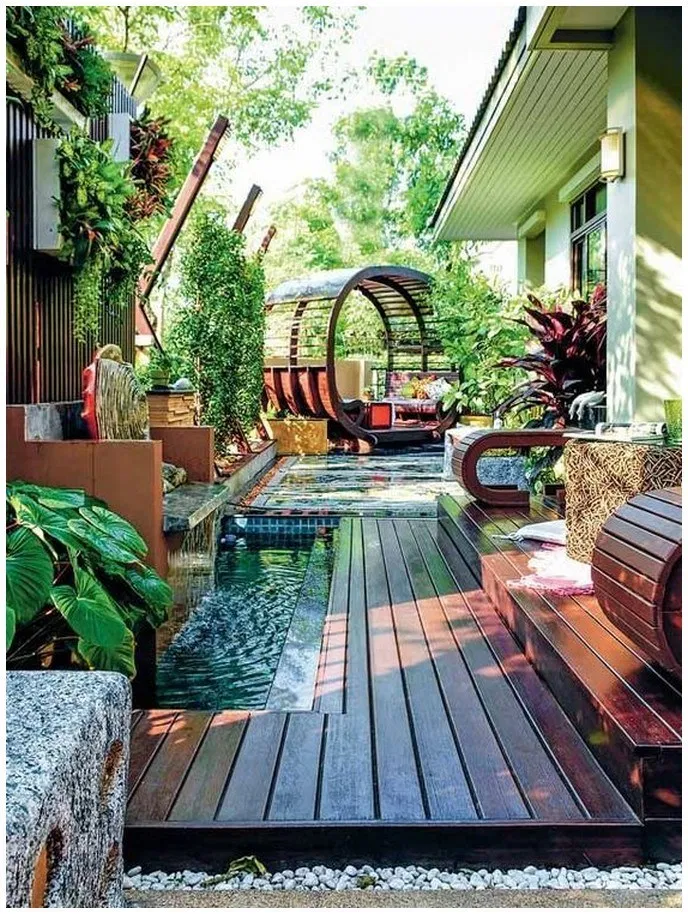 25 Stunning Cozy Backyard Ideas For Inspiration Cozybackyard Backyardideas Backyardde Small Backyard Garden Design Terrace Garden Design Roof Garden Design