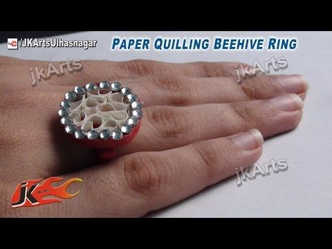 DIY How to make Paper Quilling Ring Beehive - JK Arts 415 - YouTube