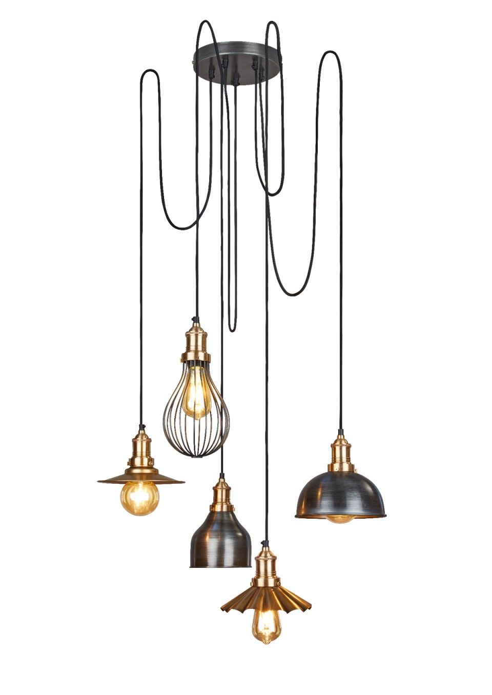 design your own lighting. This Stylish Brooklyn Vintage 5 Wire Pendant Light Allows You To Create Your Own Distinguishing Lighting Design O