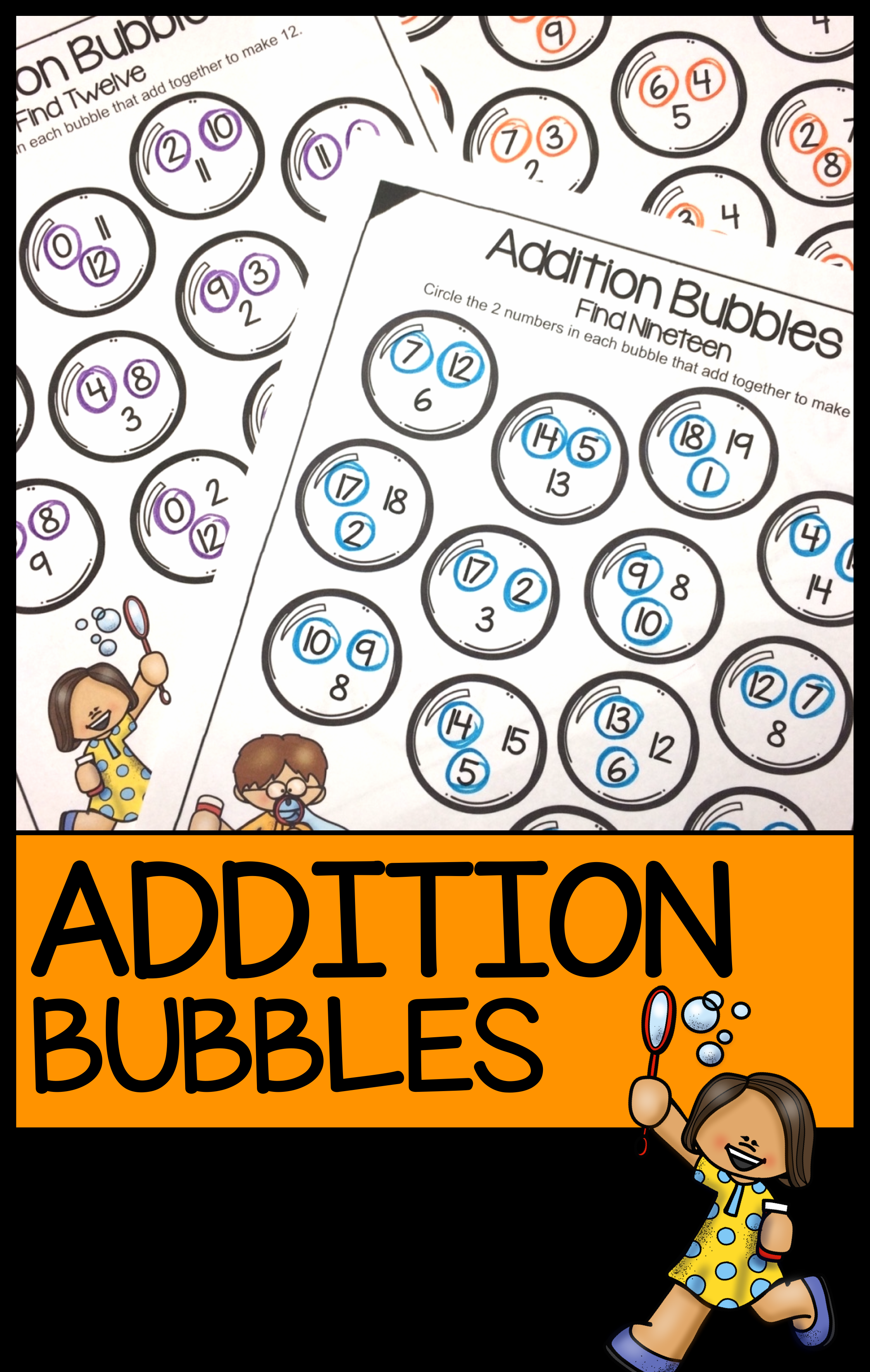 Addition Bubbles No Prep Worksheet For Practising Addition To 20 Perfect For Individual Practis Bubble Activities Addition Worksheets Addition Fact Practice [ 3541 x 2245 Pixel ]
