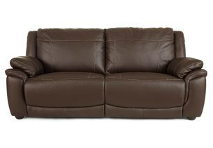 Furniture, Awesome Brown Puffy Leather Sofa Bed Design With Large Pads To  Rest And Short Sleeves Ideas: Contemporary Elegant Leather Sofas For Your  Living ...