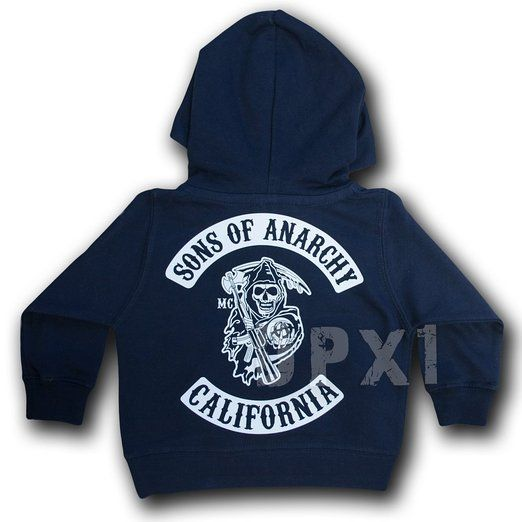 2feb6f4853f80 BABY / KIDS SONS OF ANARCHY HOODIE (6 Months - 6 Years): Amazon.co ...