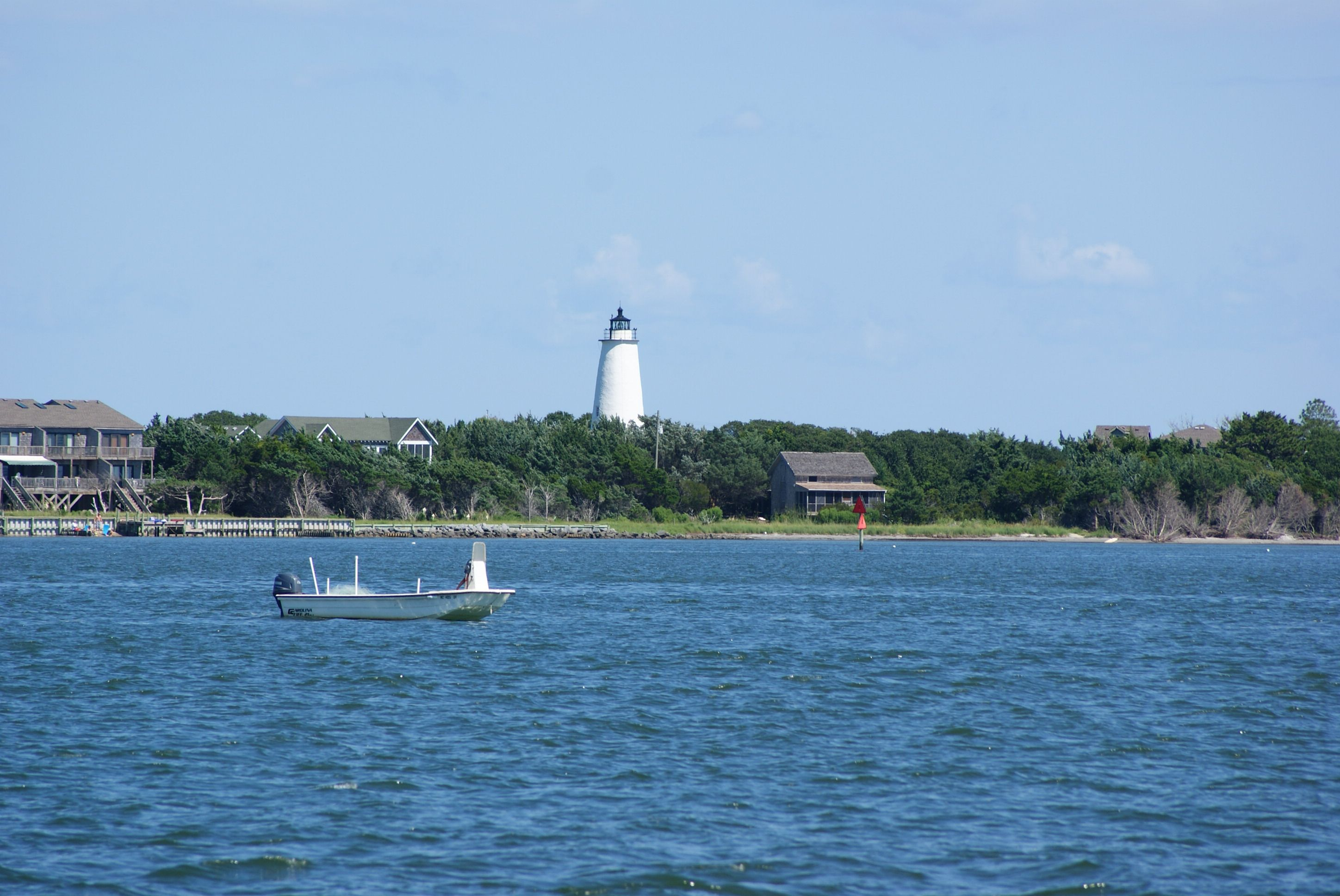 Welcoming you home to Ocracoke from the Cedar Island Ferry, the Ocracoke Lighthouse.