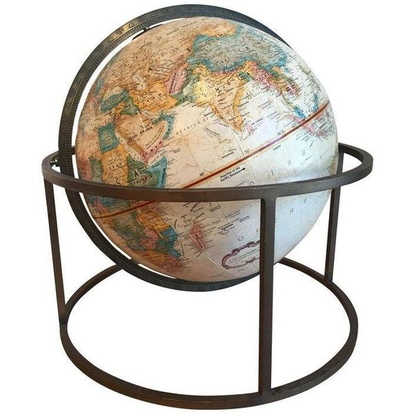 Paul Mccobb Tabletop Globe 150 Liked On Polyvore Featuring Home Decor Decorative Objects Vintage