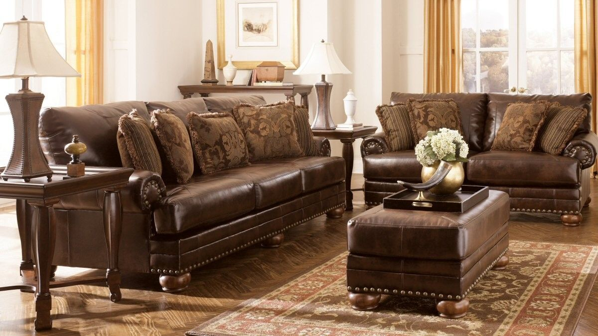 Durablend Antique Sofa Set By Ashley Furniture Dfw Furniture