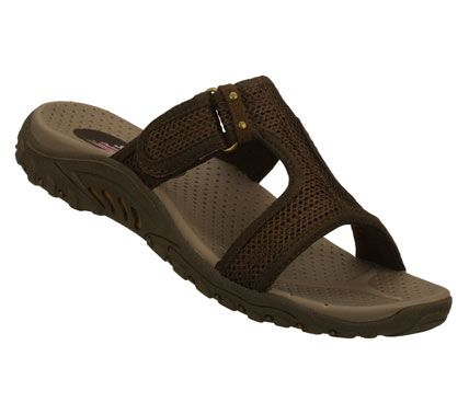 8a4ec9cc93a SKECHERS Womens Reggae Rockfest Comfort Sandals - Brown - 11