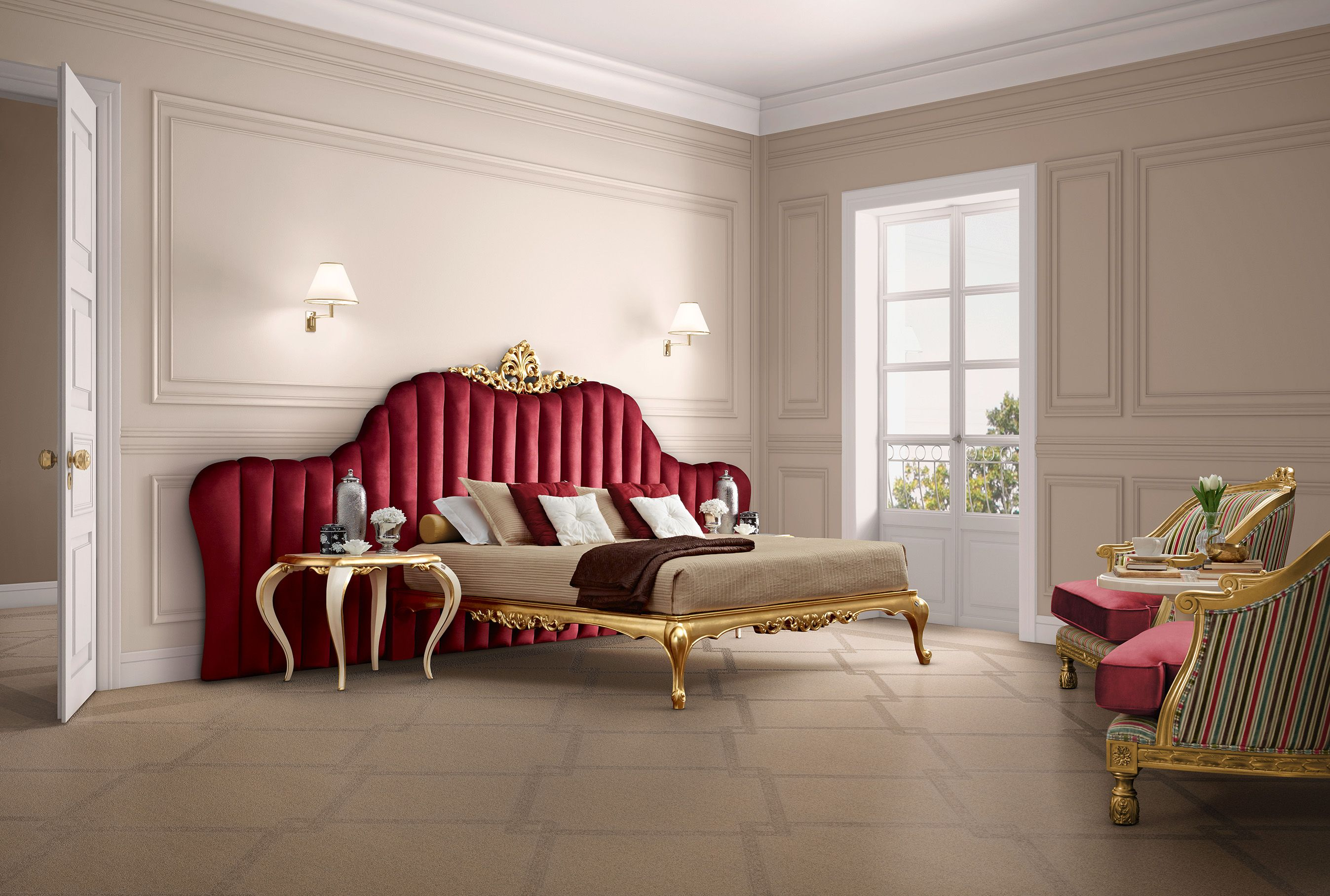 Bed furniture design catalogue - Venezia Upholstered Bed In Red Jetclass Real Furniture Luxury Interior Design Http