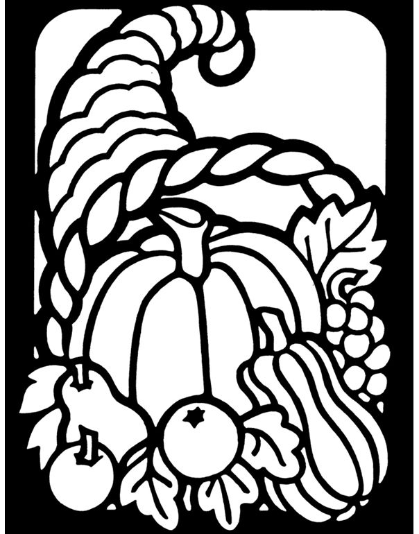Welcome to Dover Publications The Little Thanksgiving Stained Glass ...