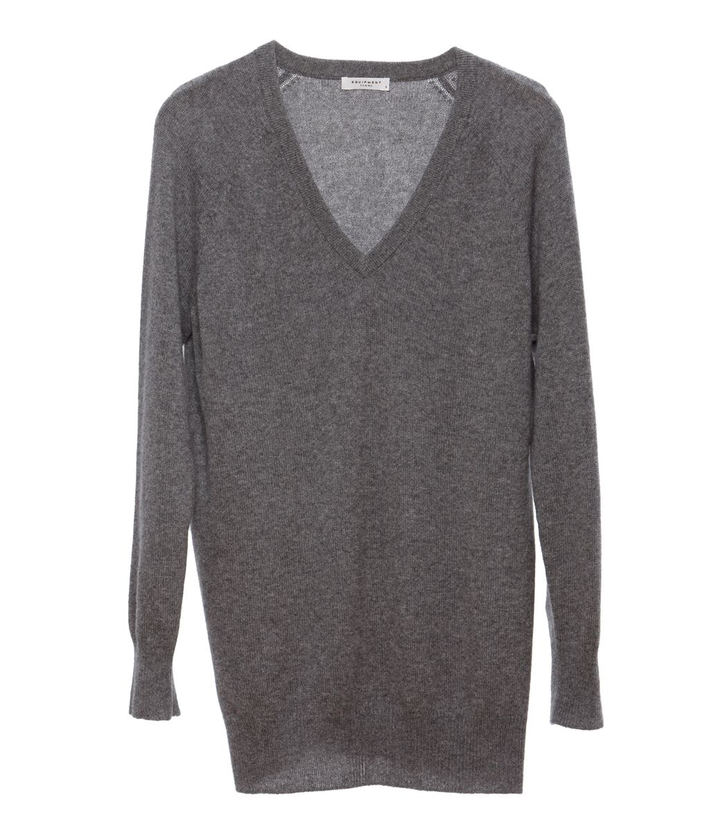 Oversize Knits at #ShopBAZAAR – Equipment Asher V-Neck Cashmere ...