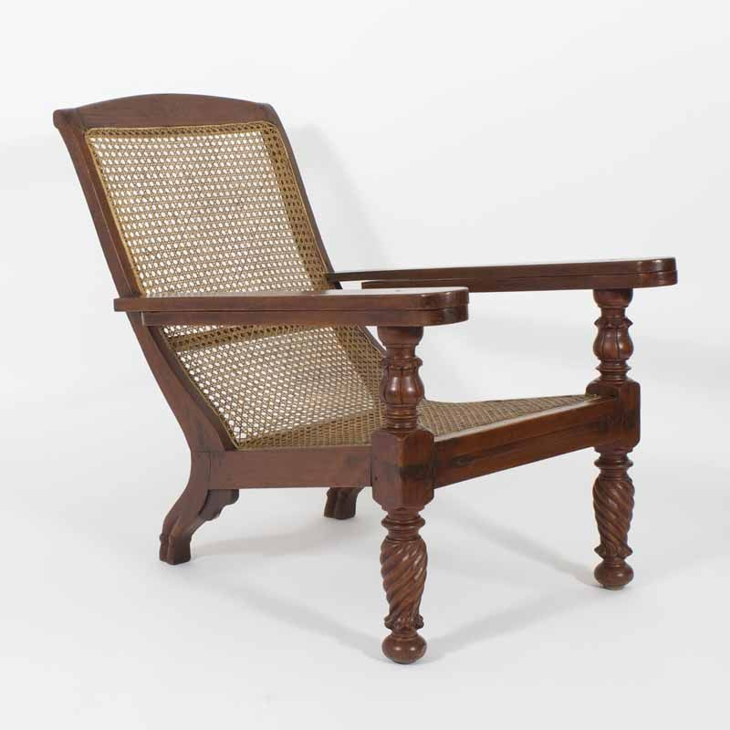 19th C. Anglo Indian Mahogany Plantation Chair | FS Henemader Antiques - 19th C. Anglo Indian Mahogany Plantation Chair FS Henemader