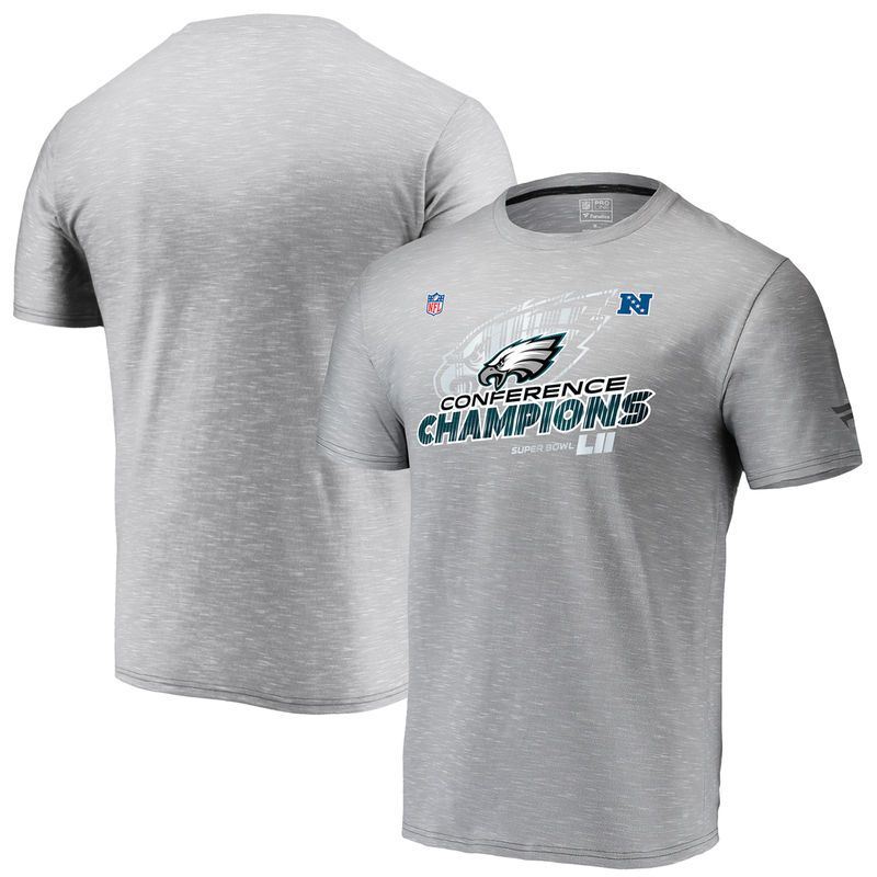 d0ae448fff2 Philadelphia Eagles NFL Pro Line by Fanatics Branded 2017 NFC Champions  Trophy Collection Locker Room T-Shirt – Gray