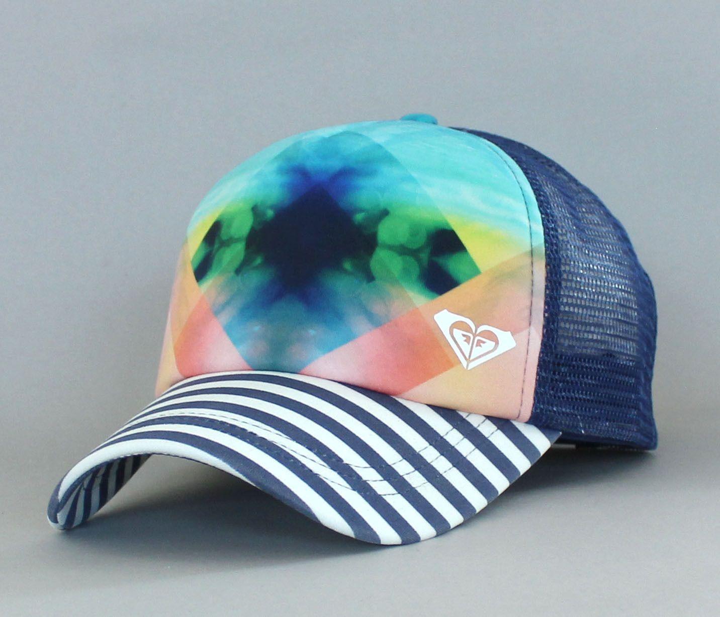 Women s Genuine Roxy Water Come Down Snapback Mesh Hat Foam Trucker ... 200c60027da