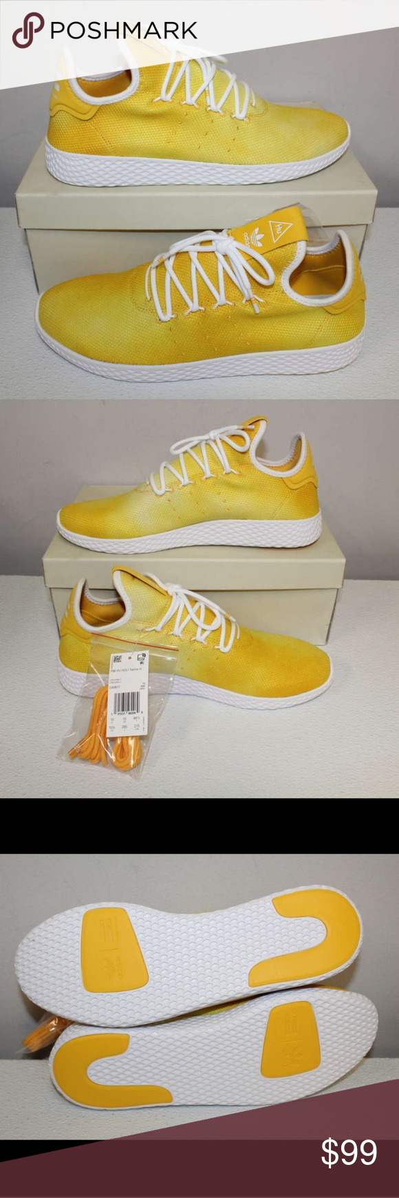 New Men S Adidas Pharrell Tennis Hu Yellow Shoes Yellow Shoes Pharrell Adidas Pharrell Williams