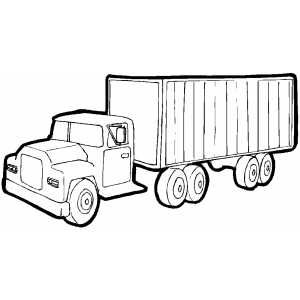Truck With Cargo Container Coloring Page Cargo Container Truck Coloring Pages Container