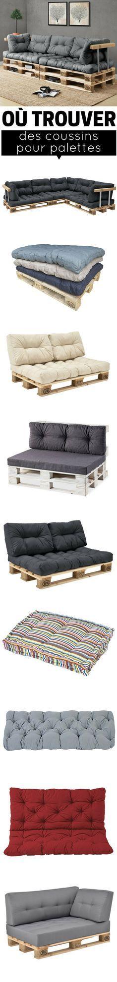 coussin pour palette o trouver des coussins pour meubles en palette d co pinterest. Black Bedroom Furniture Sets. Home Design Ideas