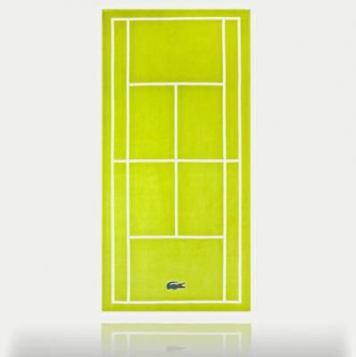 serviette de plage court de tennis lacoste | cool entertaining and