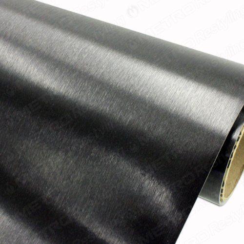 Robot Check Brushed Black Black Metallic Vinyl