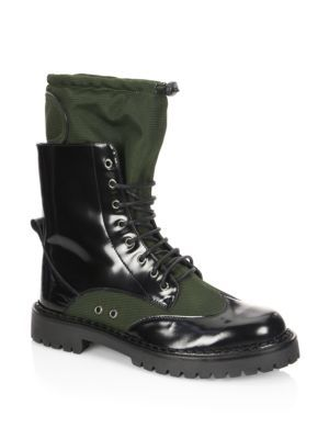 MoschinoMilitary Lace-Up Boots jzo4FDc