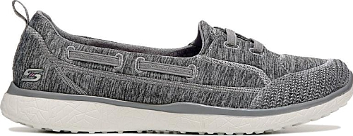 Skechers Women S Shoes In Gray Color Feel Your Best Wherever You Go In The Top Notch Comfort Sneaker From Skechers Skechers Skechers Women Slip On Sneakers