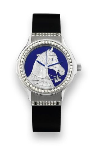 "Hublot White Gold and Diamond ""Spanish Horse"" Hublot, MDM, Genève | Hublot,  White gold, Jaeger watch"