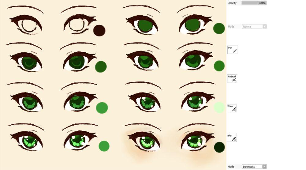 Anime Eye Tutorial Anime Eyes How To Draw Anime Eyes Galaxy Eyes