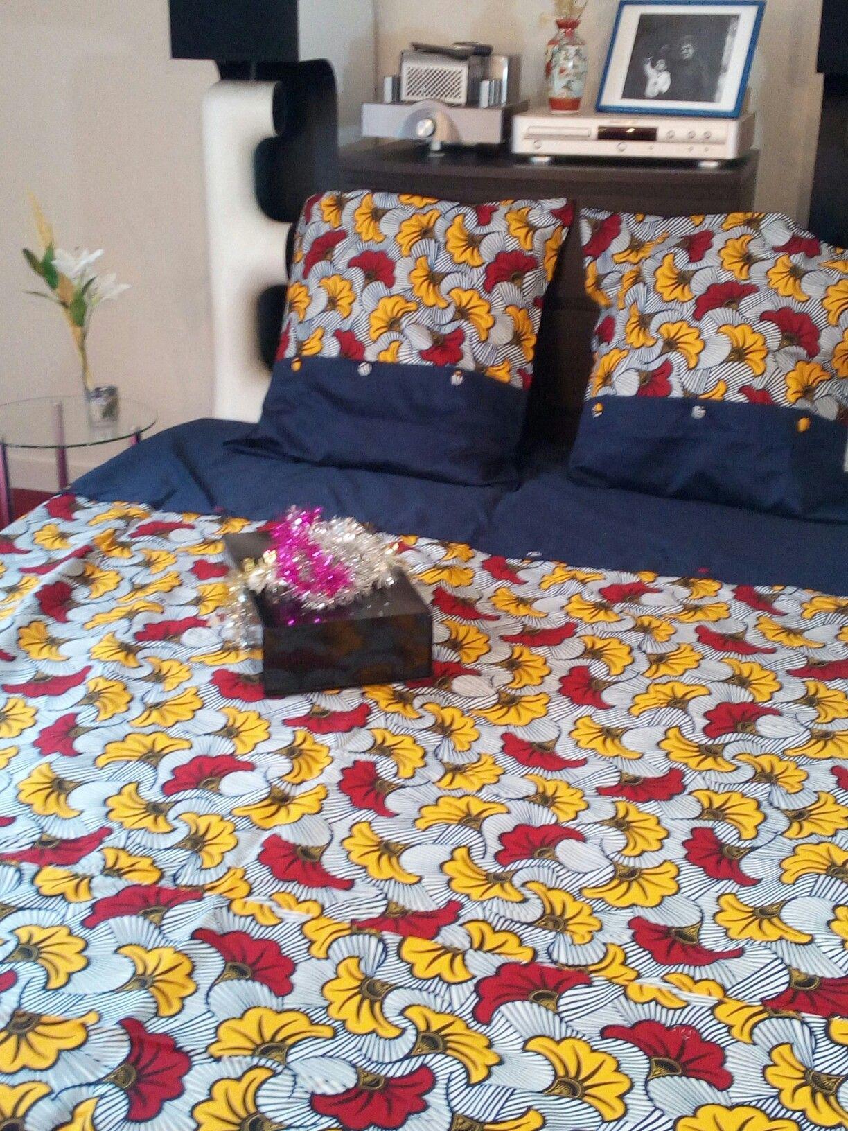 Housse De Couette En Wax 9 African Bedding Bedsets Parure De Lit En Wax Waxindeco Deco Maison Deco Etnique Parure De Lit