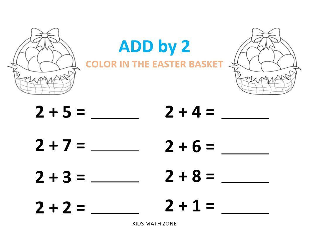 EASTER ADDITION D (10 Worksheets) pdf/ #Preschool #Kindergarten Ye…    Kindergarten addition worksheets [ 816 x 1056 Pixel ]
