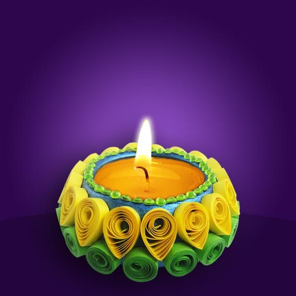 Diya decoration quilling for Diya decoration youtube