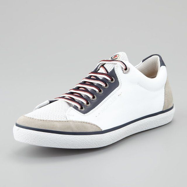 9c5885cb861 Academie Perforated Leather Sneaker by Moncler