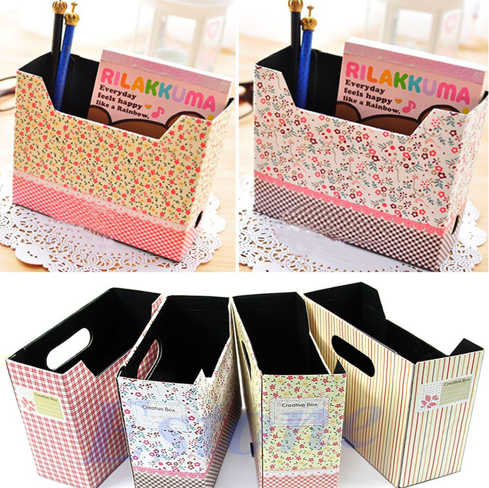 Cute Makeup Cosmetic Stationery DIY Paper Board Storage