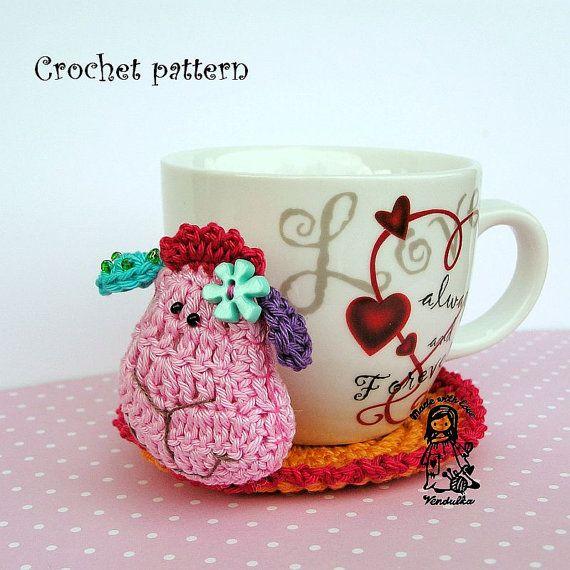 Crochet sheep coaster.  Funny :)