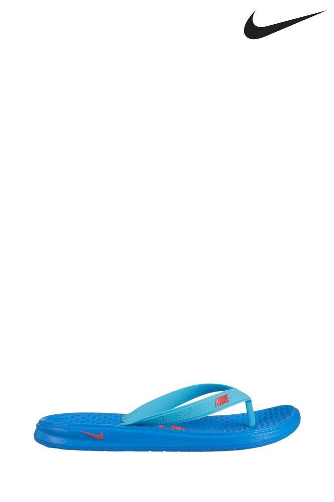 Boys Nike Blue Solay Flip Flop Junior