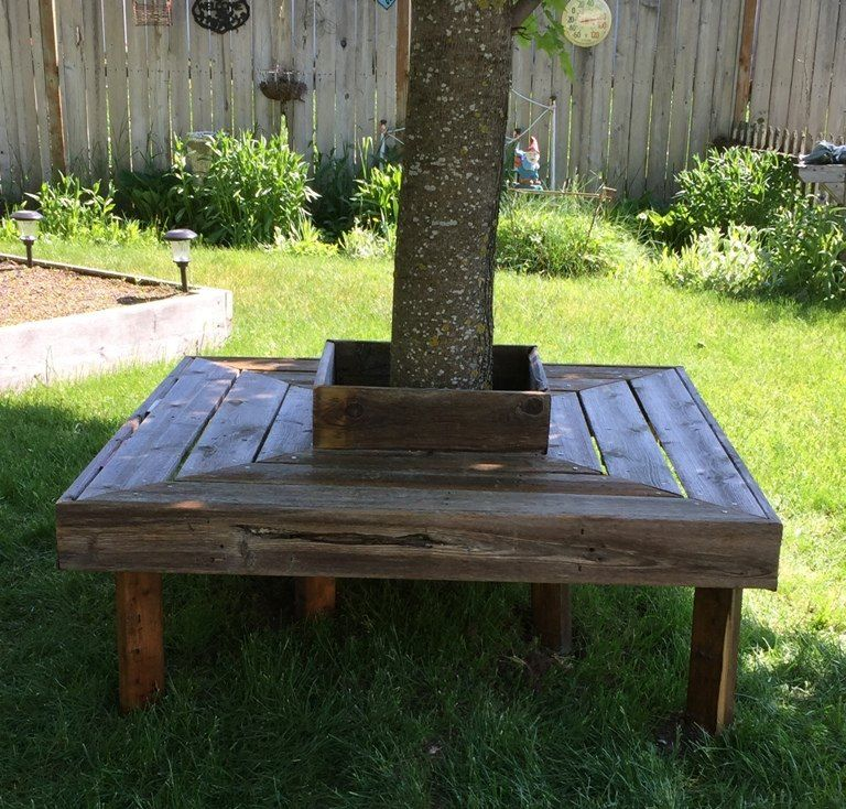 Astonishing Reclaimed Wood Tree Bench Outside Tree Bench Bench Gmtry Best Dining Table And Chair Ideas Images Gmtryco