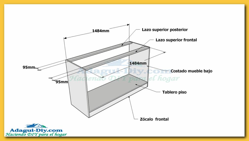 Planos muebles de cocina para armar ideas for Planos para muebles de melamina