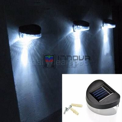 4) Lampara Luz Led Panel Solar Para Jardín Exteriores - Bs 7100,00