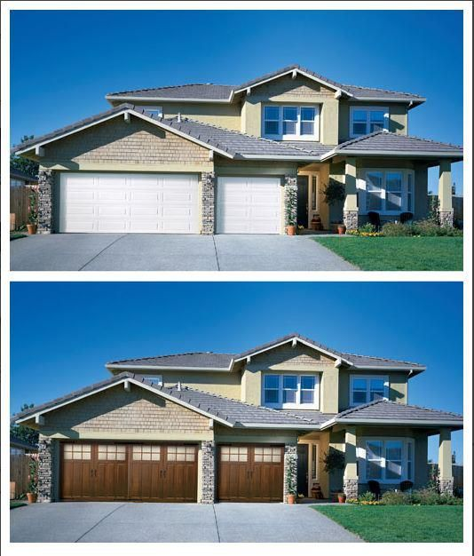 This Before And After Image (courtesy Of St. Cloud Overhead Door Company In  MN