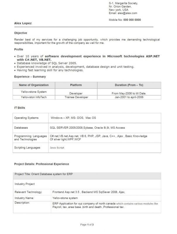 mechanical engineer resume for fresher sample format engineers pdf ...